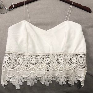Lacey white crop top